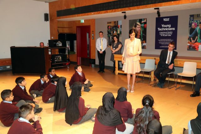 Meghan Markle visits the National Theatre on Jan. 30, 2019