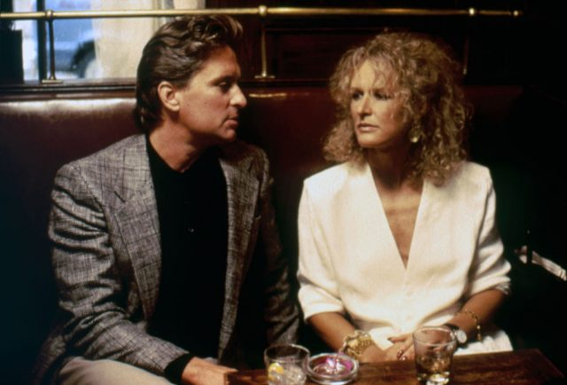 Michael Douglass and Glenn Close in 'Fatal Attraction'