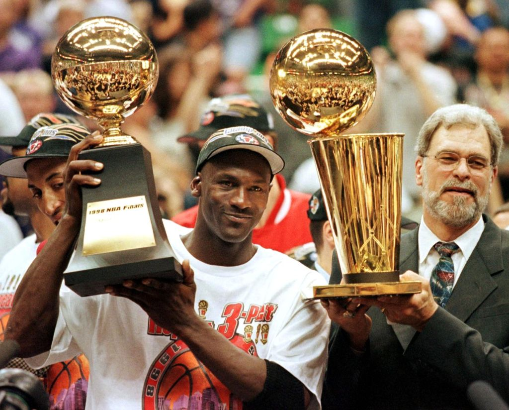 Michael Jordan and Phil Jackson