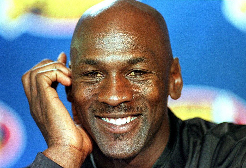 Michael Jordan smiling