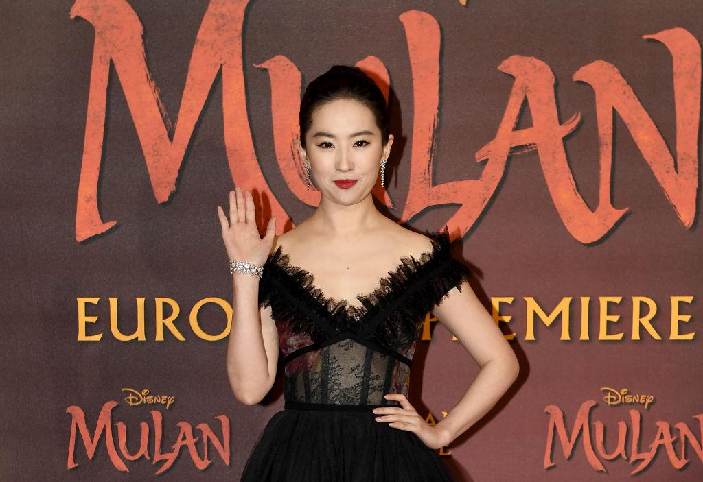 Yifei Liu attends the European Premiere of Disney's 'MULAN'