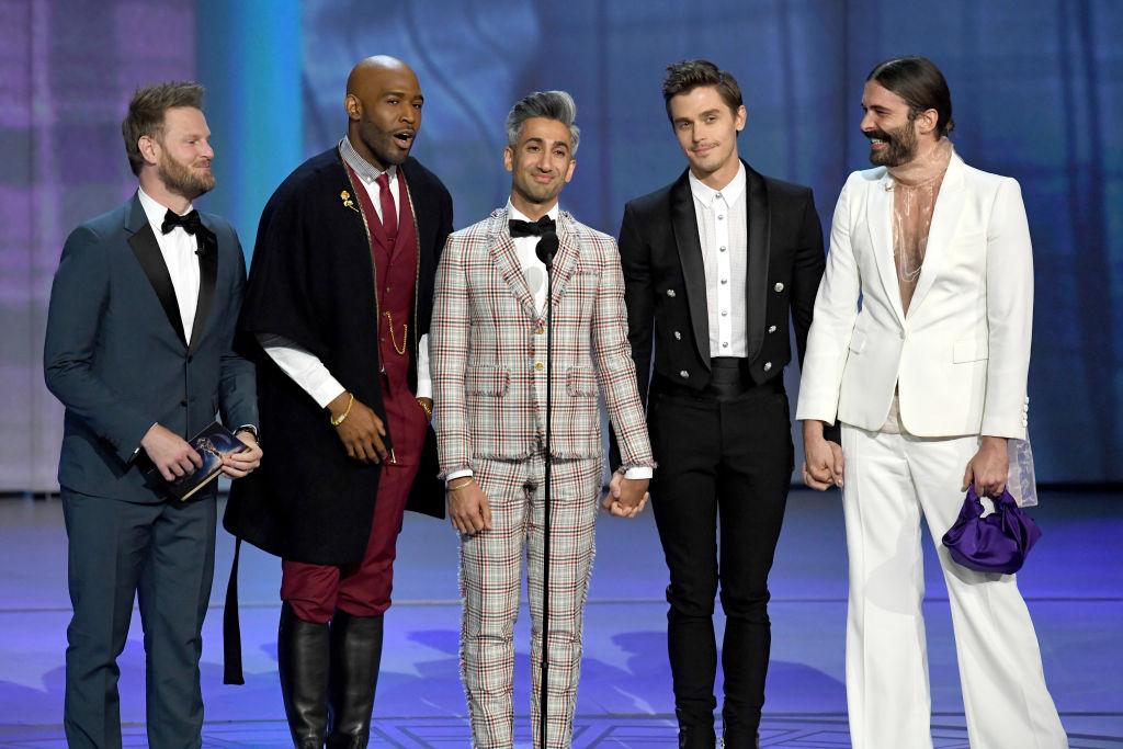 Bobby Berk, Karamo Brown, Tan France, Antoni Porowski, and Jonathan Van Ness at the 70th Emmy Awards