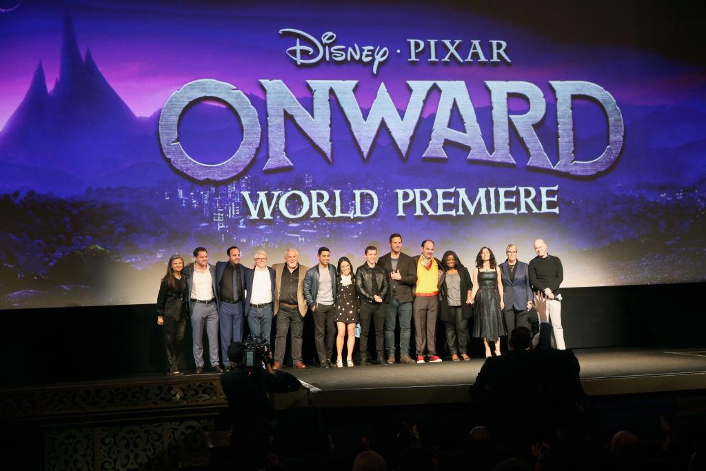 World premiere of Disney and Pixar's ONWARD at the El Capitan Theatre