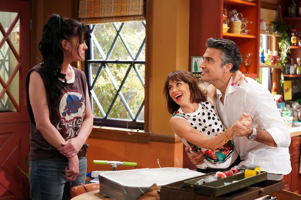 Pauley Perrette with Natasha Leggero and Jaime Camil | Sonja Flemming/CBS via Getty Images
