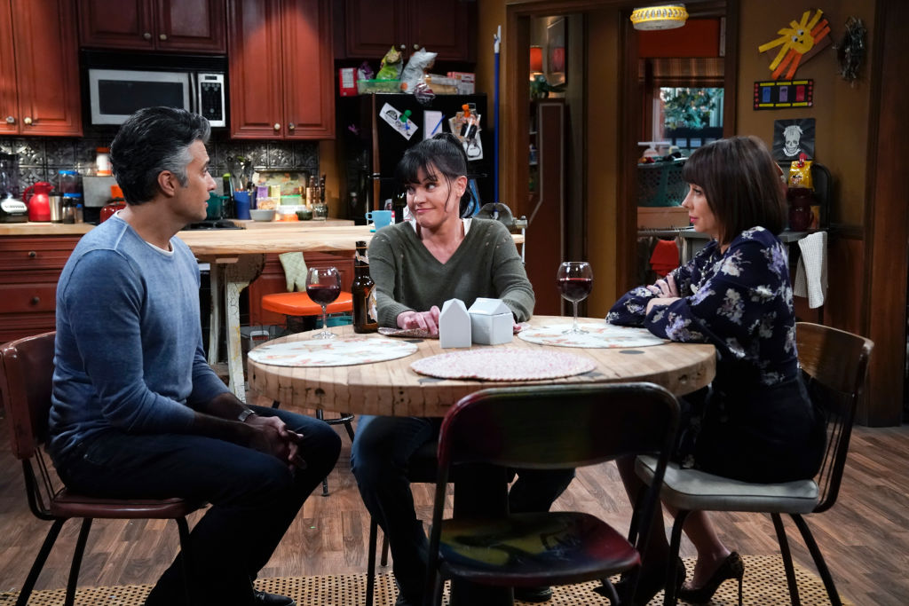 Pauley Perrette and the cast of Broke | Cliff Lipson/CBS via Getty Images