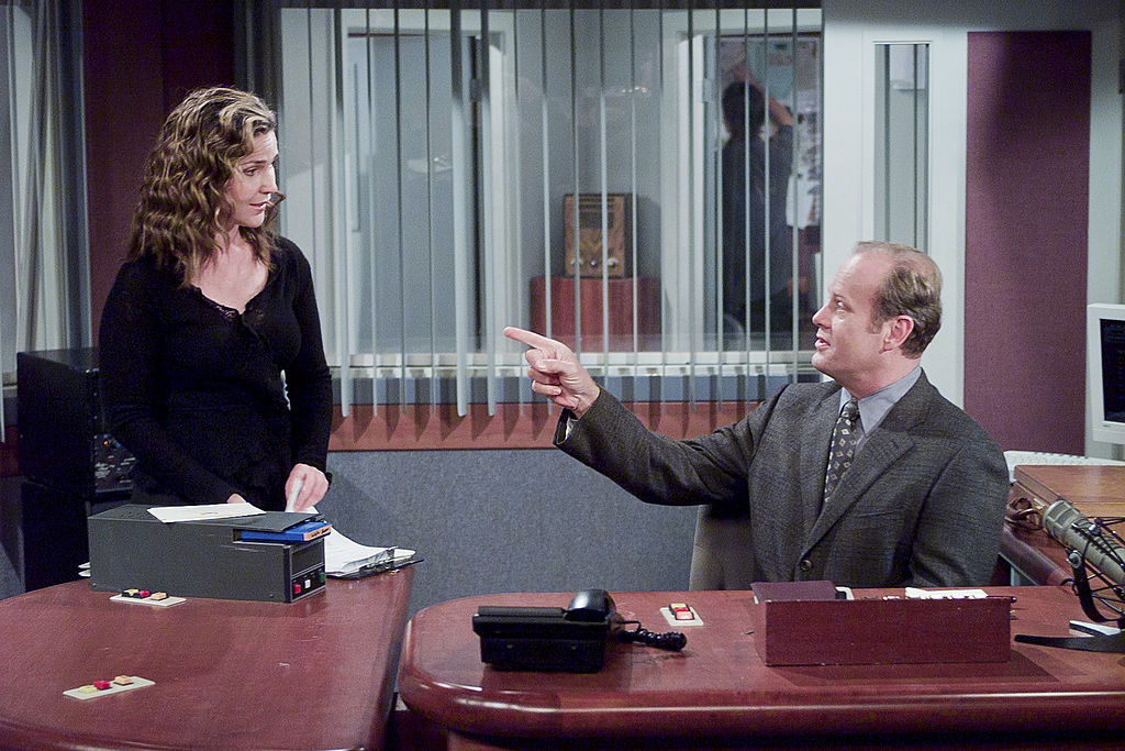 Peri Gilpin and Kelsey Grammer of 'Frasier'