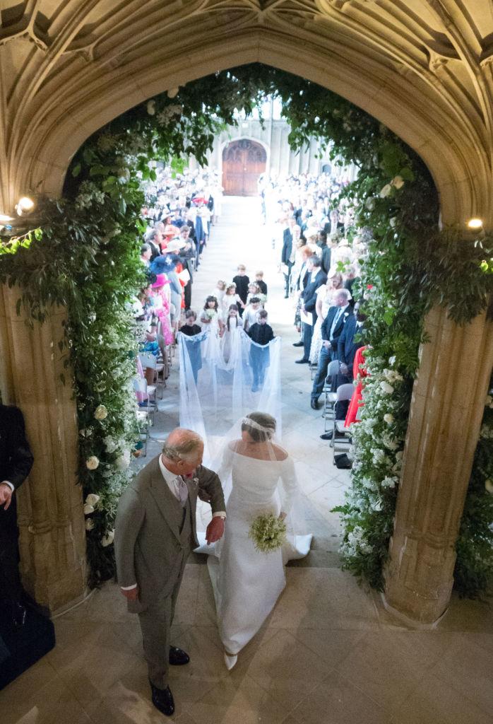 Prince Charles walking Meghan Markle down the aisle