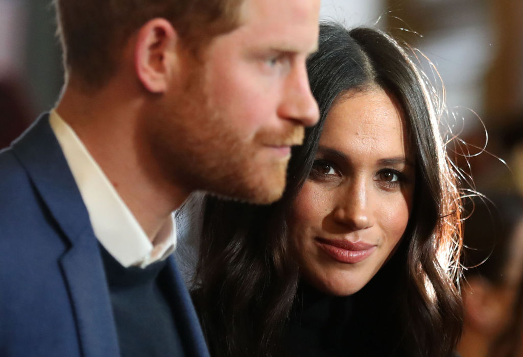 Prince Harry and Meghan Markle attend a reception for young people at the Palace of Holyroodhouse on February 13, 2018 in Edinburgh, Scotland