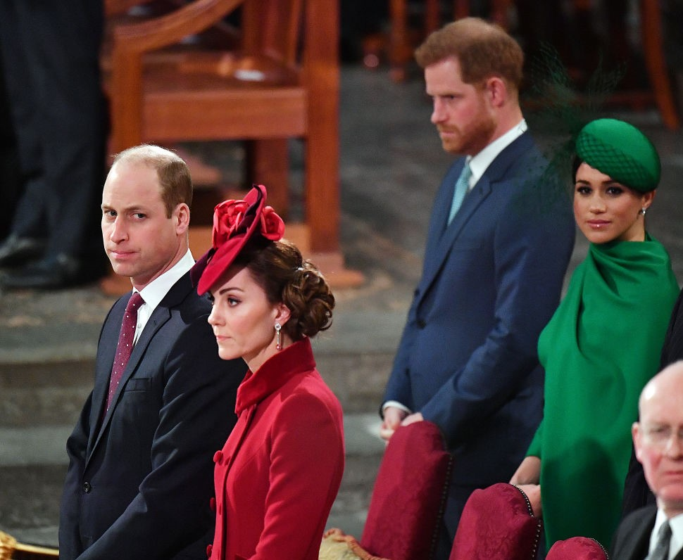 Prince Harry, Meghan Markle, Prince William, and Kate Middleton