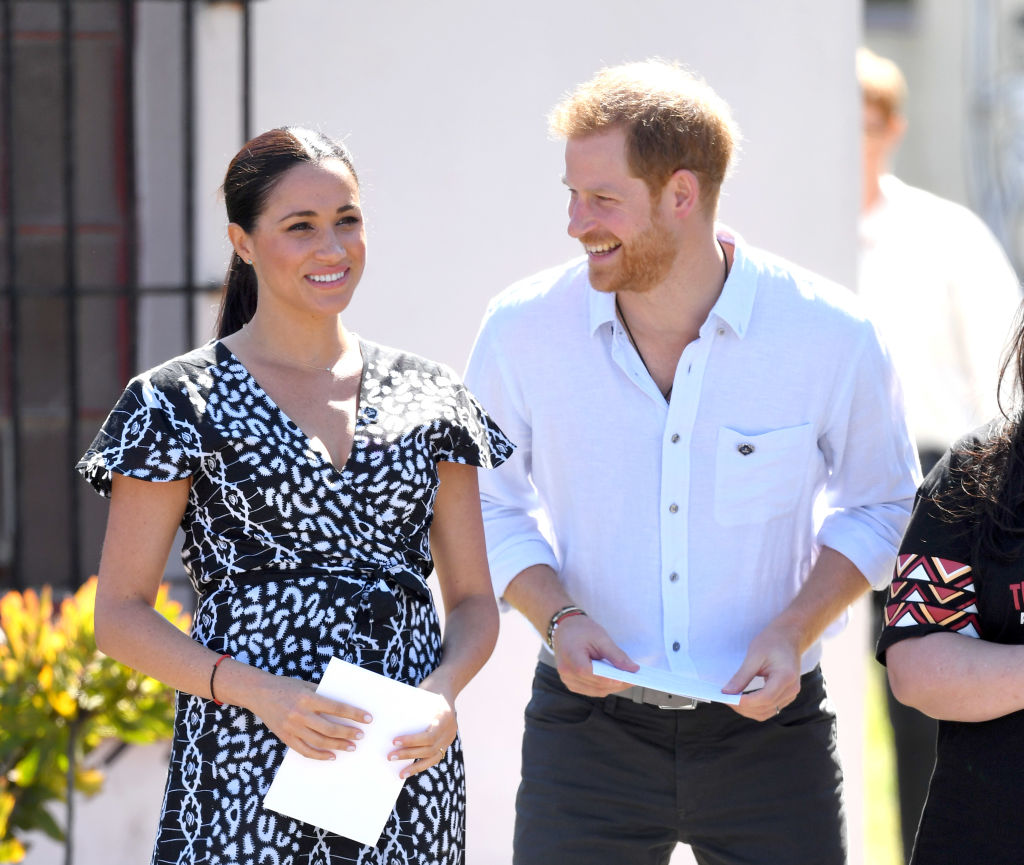 Prince Harry and Meghan, Duchess of Sussex visit the Nyanga Township during their royal tour of South Africa