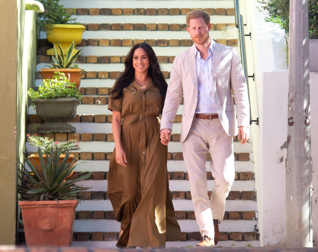Prince Harry and Meghan Markle attend Heritage Day public holiday celebrations in the Bo Kaap district of Cape Town, during the royal tour of South Africa
