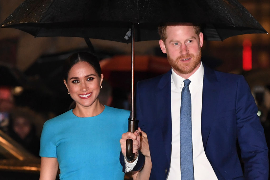 Prince Harry and Meghan Markle attend the Endeavour Fund Awards at Mansion House in London