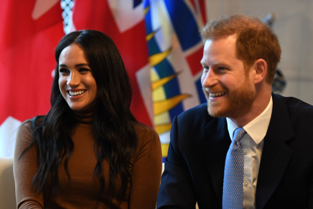 Prince Harry and Meghan Markle during their visit to Canada House