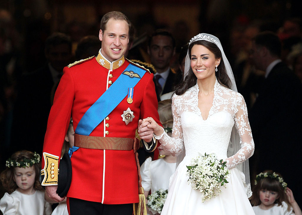 Prince William and Catherine, Duchess of Cambridge wedding at Westminster Abbey on April 29, 2011 in London, England