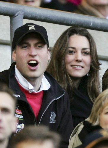 Kate Middleton and Prince William in 2007