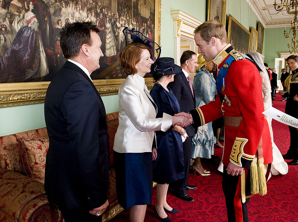 Prince William meets Prime Minister of Australia at 2011 royal wedding