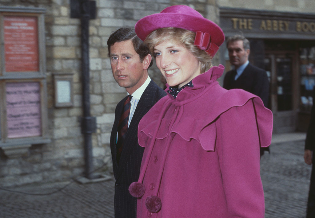 Prince Charles and the Princess of Wales (1961 - 1997, later Diana, Princess of Wales) at Westminster Abbey, London, for a centenary service for the Royal College Of Music, 28th February 1982