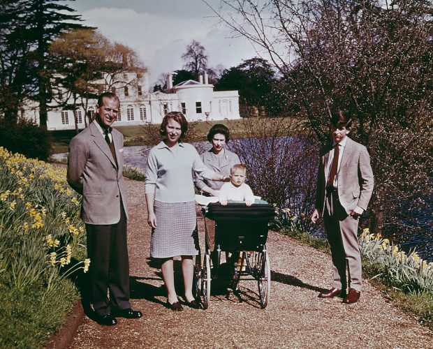 Queen Elizabeth II and family on her birthday, 1965