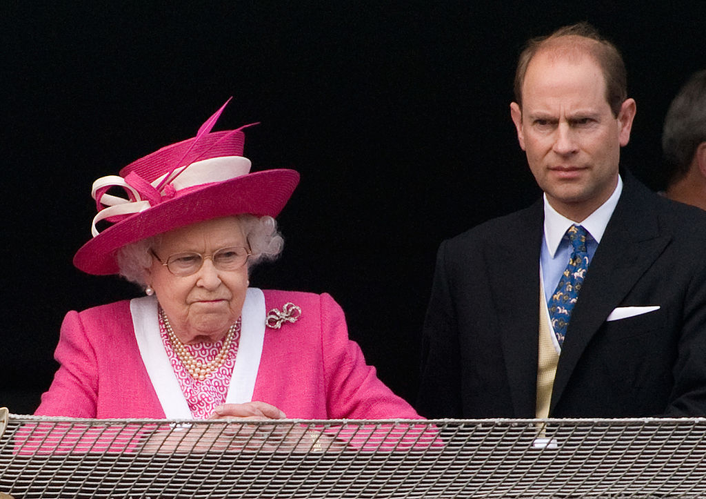 Queen Elizabeth II and her youngest son, Prince Edward
