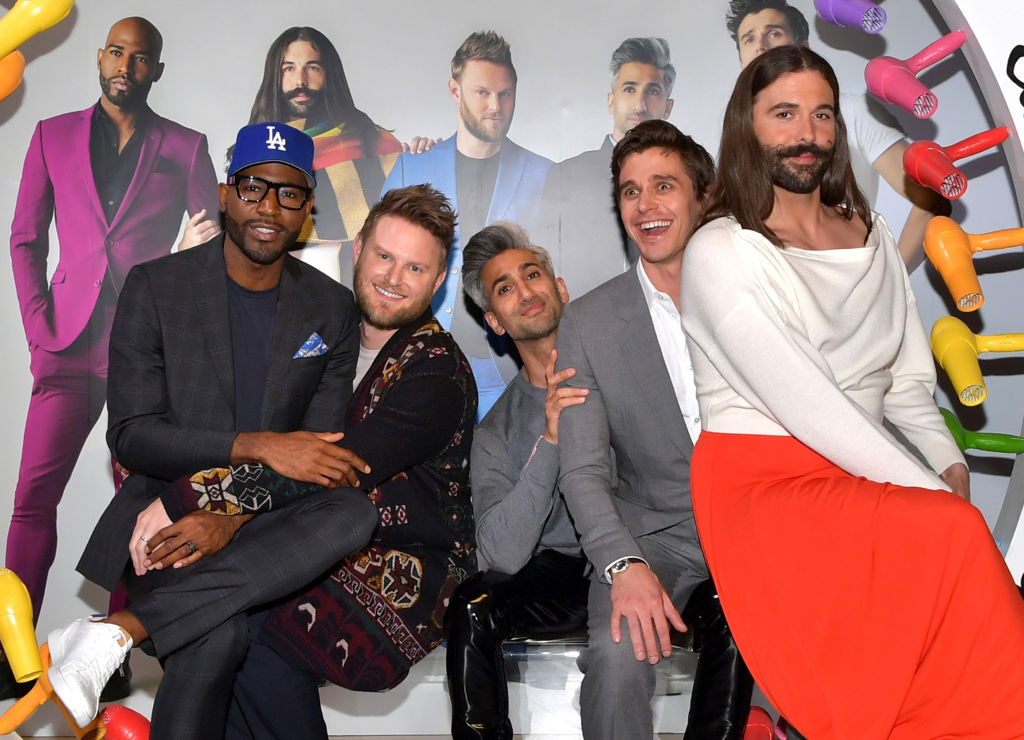 "Karamo Brown, Bobby Berk, Tan France, Antoni Porowski, and Jonathan Van Ness attend the Netflix FYSEE ""Queer Eye"" panel"