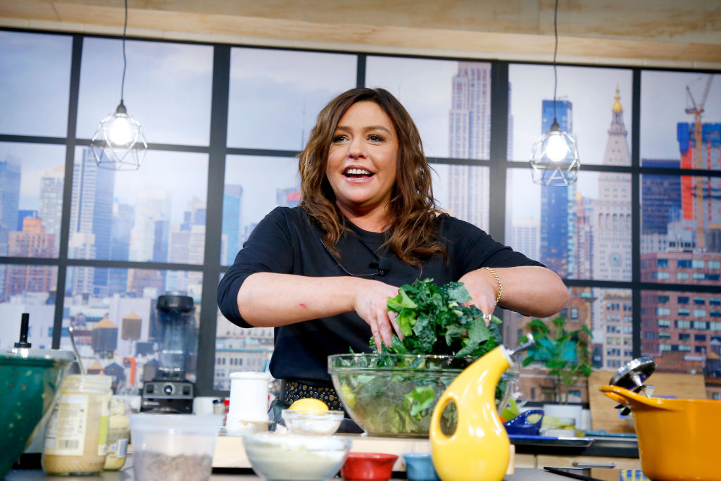 hef Rachael Ray onstage during a culinary demonstration at the Grand Tasting