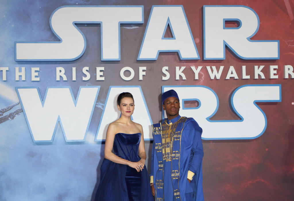 "John Boyega and Daisy Ridley attend the ""Star Wars: The Rise of Skywalker"" European Premiere"