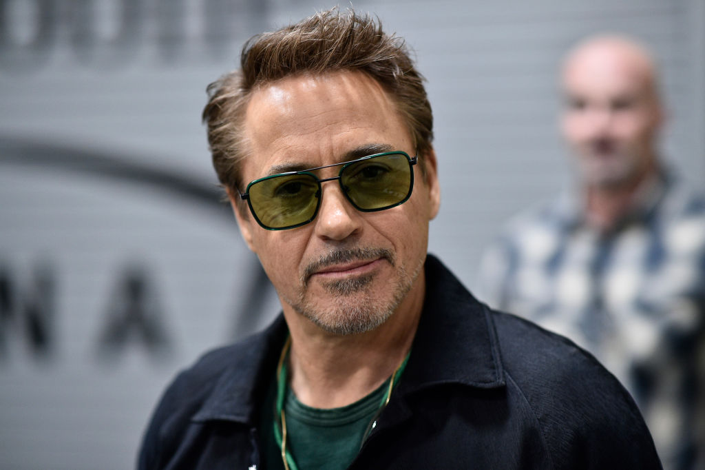 Actor Robert Downey Jr. is seen arriving backstage during the UFC 248 event at T-Mobile Arena