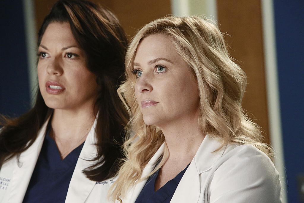 Sara Ramirez and Jessica Capshaw of 'Grey's Anatomy'