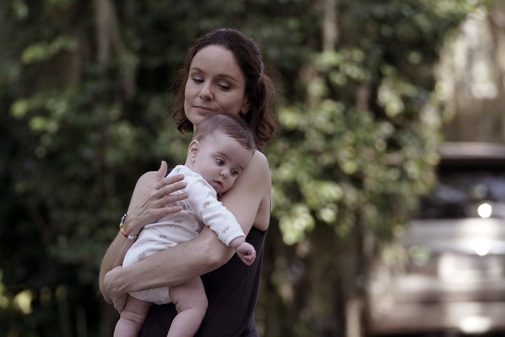 Sarah Wayne Callies and baby