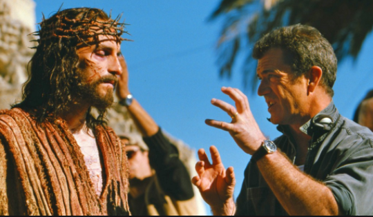 Jim Caviezel and Mel Gibson on the set of 'The Passion of the Christ'