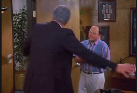 A scene from 'Seinfeld'