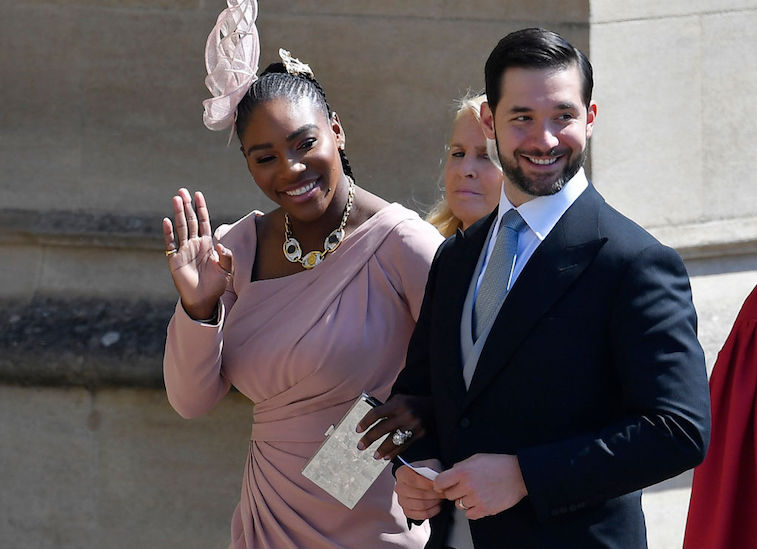 Serena Williams attends Harry and Meghan's royal wedding in 2018