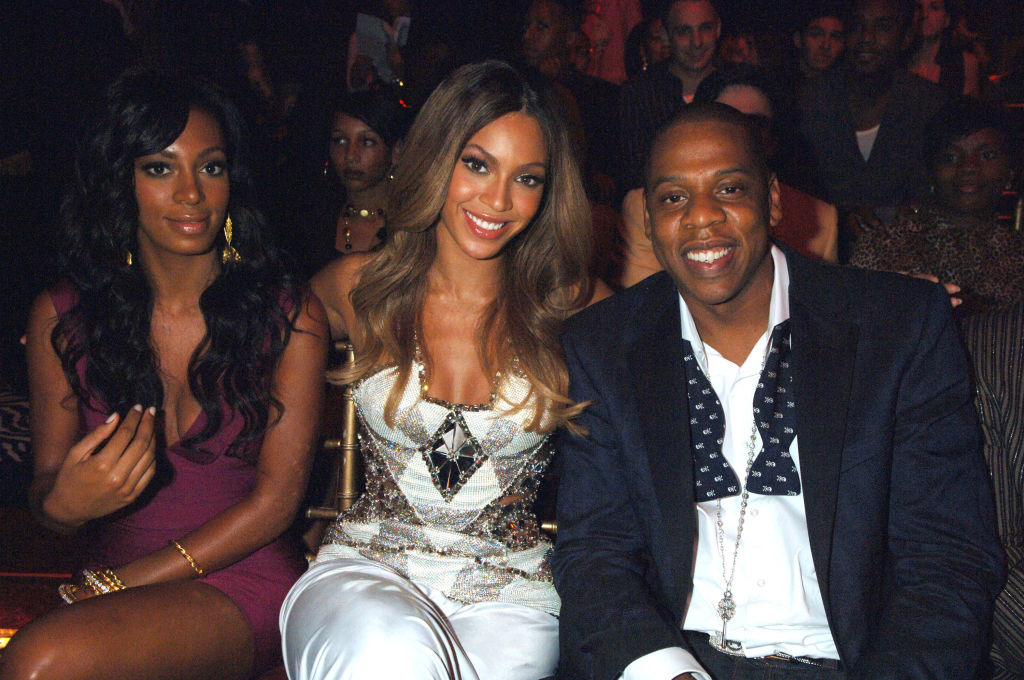 Solange, Beyonce and Jay Z at an award show in 2006