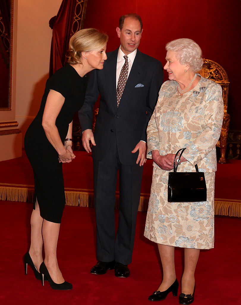 Queen Elizabeth with Sophie and Prince Edward