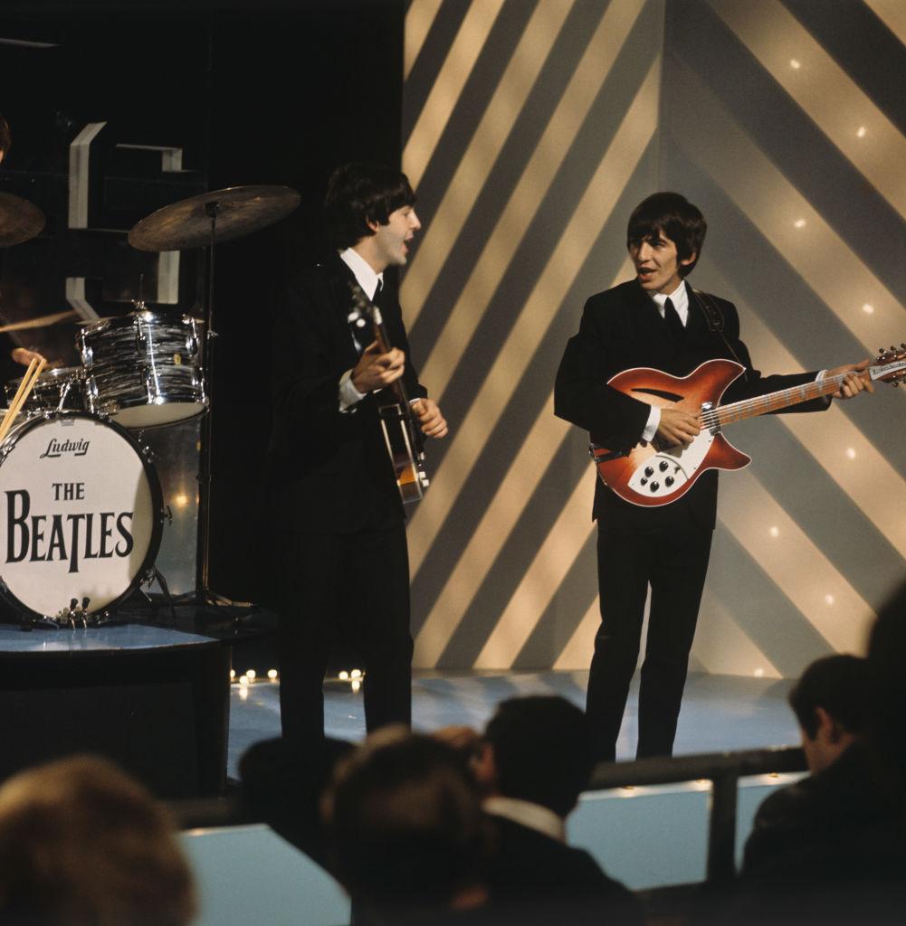 The Beatles Paul McCartney and George Harrison