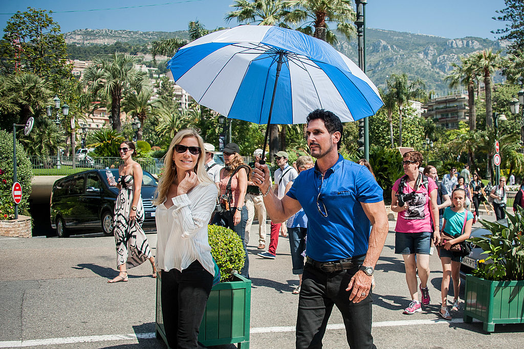 Don Diamont and Katherine Kelly Lang on set of 'Bold and the Beautiful'