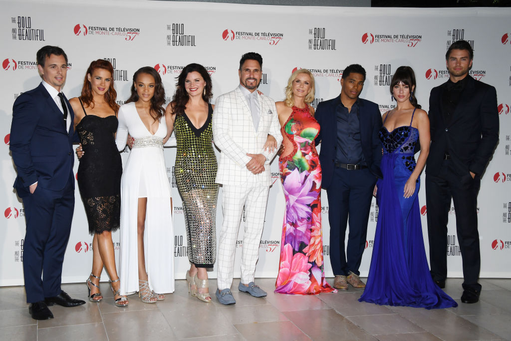 The Bold and the Beautiful Cast: Darin Brooks,Courtney Hope,Reign Edwards,Heather Tom,DonDiamont,Katherine Kelly Lang,Rome Flynn,Jacquelines MacInnes Wood and Pierson Fode