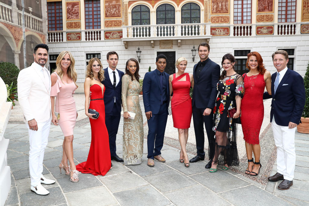 Don Diamont and wife Cindy Ambuehl, Kelly Kruger, Darin Brooks, Reign Edwards ,Rome Flynn, Katherine Kelly Lang;Pierson Fode Heather Tom, Courtney Hope and Bradley Bell