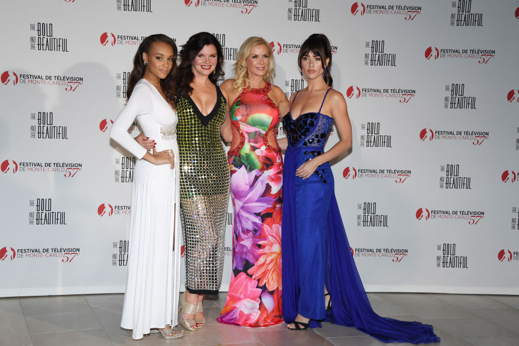 Reign Edwards, Heather Tom, Katherine Kelly Lang and Jacquelines MacInnes Wood
