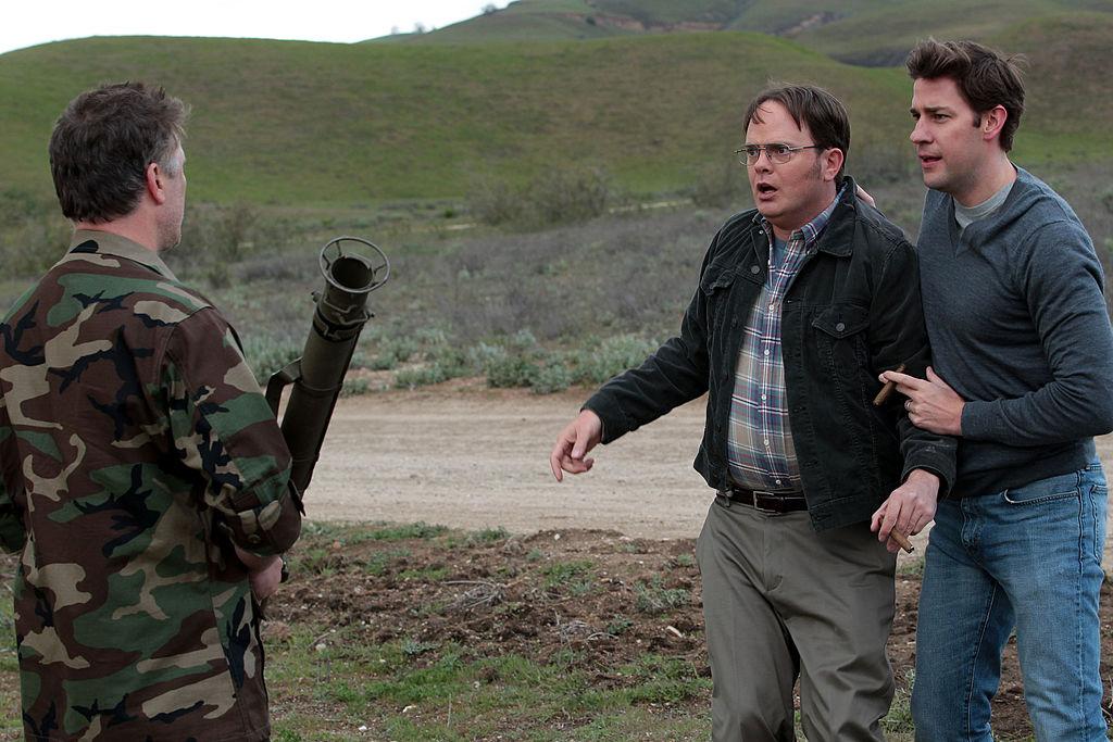 Rainn Wilson as Dwight Schrute, John Krasinski as Jim Halpert on 'The Office'