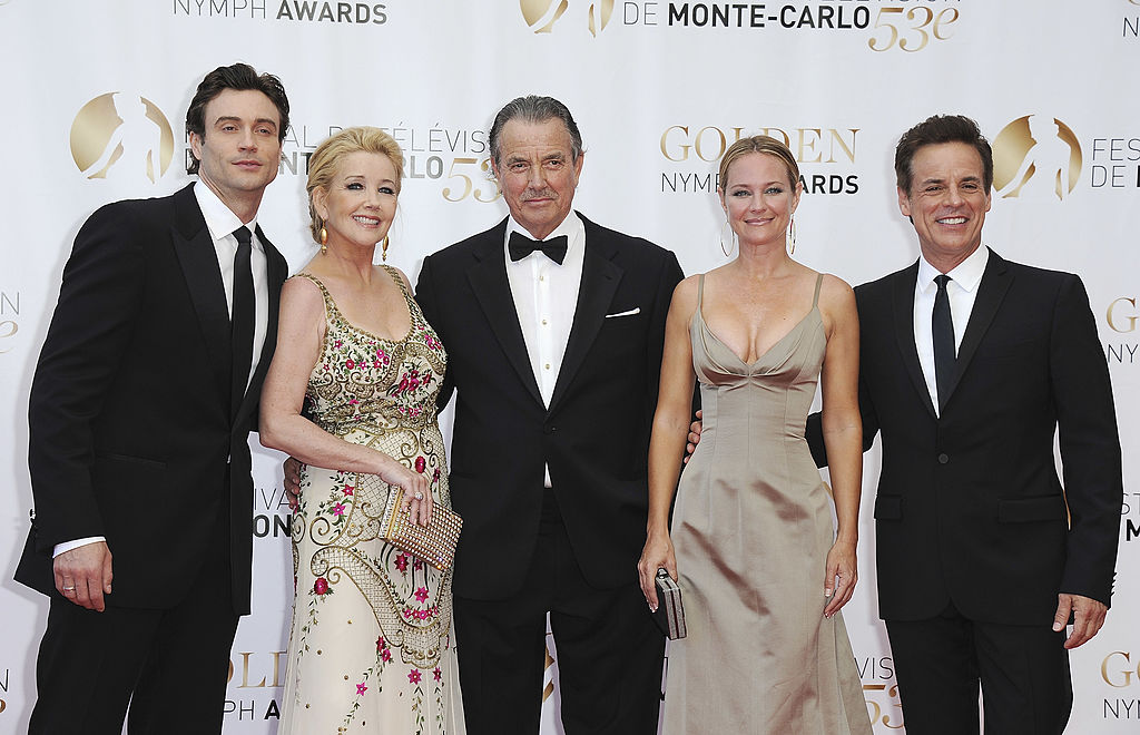 The Young and the Restless Cast Members: Daniel Goddard, Melody Thomas Scott, Eric Braeden, Sharon Case and Christian Leblanc