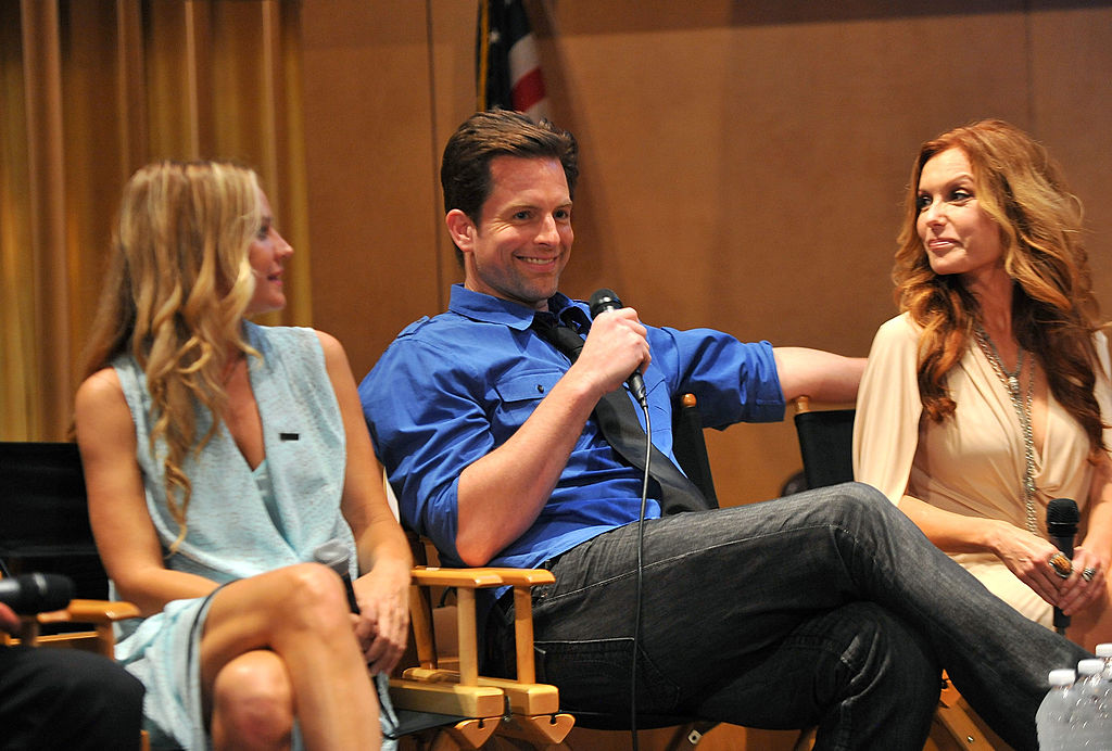 Sharon Case, Michael Muhney and Tracey E. Bregman