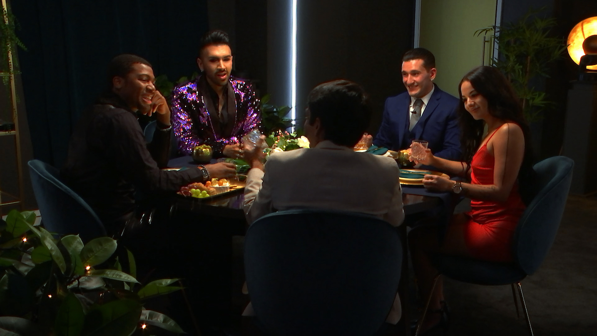 The final five 'The Circle' contestants as they meet each other for the first time.