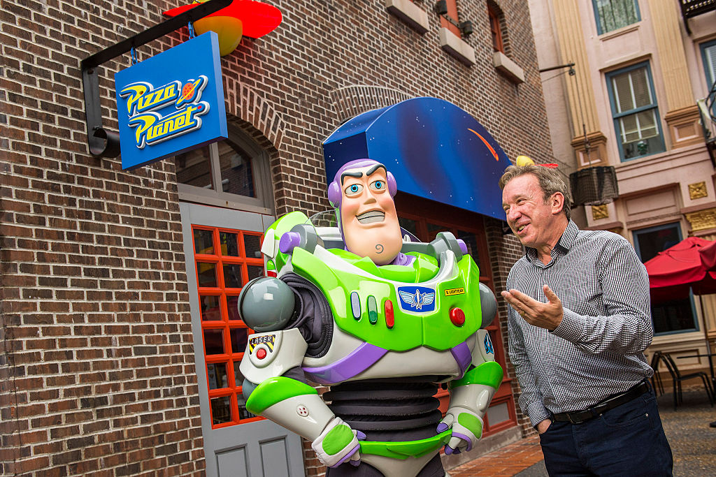 Tim Allen and 'Toy Story' character Buzz Lightyear