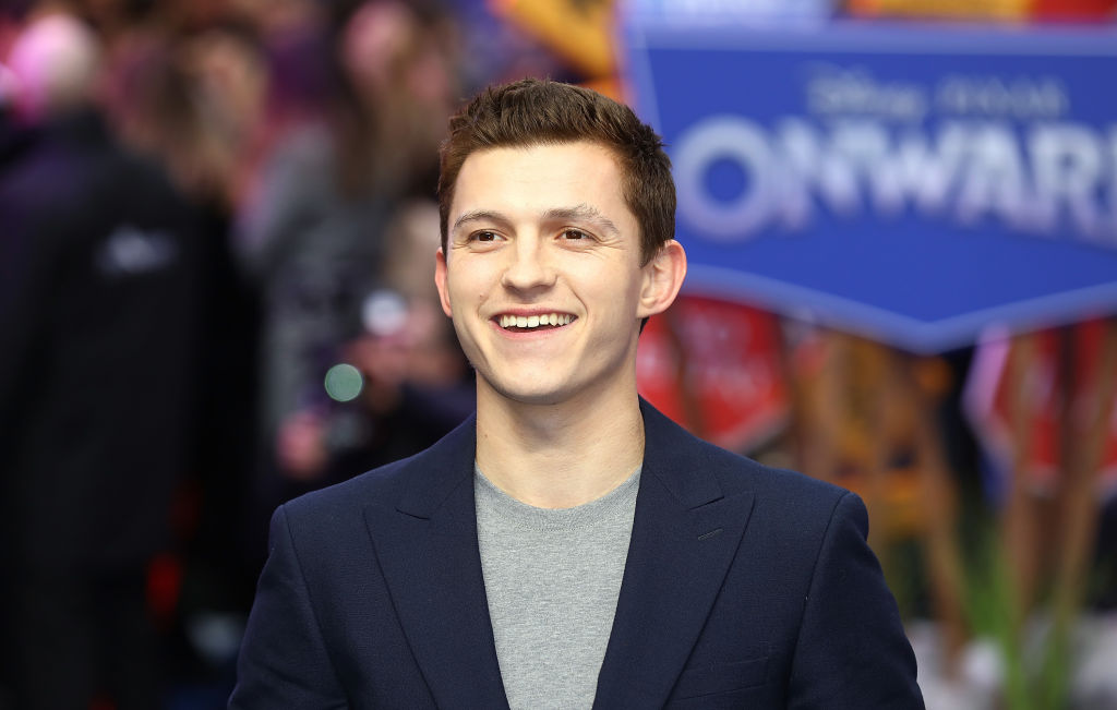 Tom Holland smiling