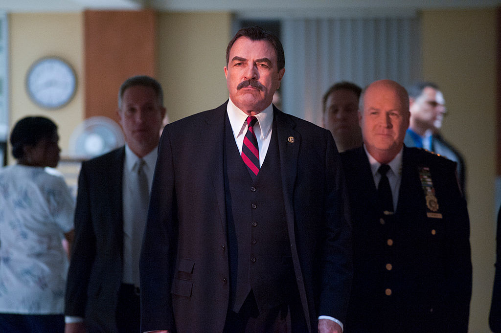 Tom Selleck on the set of Blue Bloods    Jojo Whilden/CBS via Getty Images