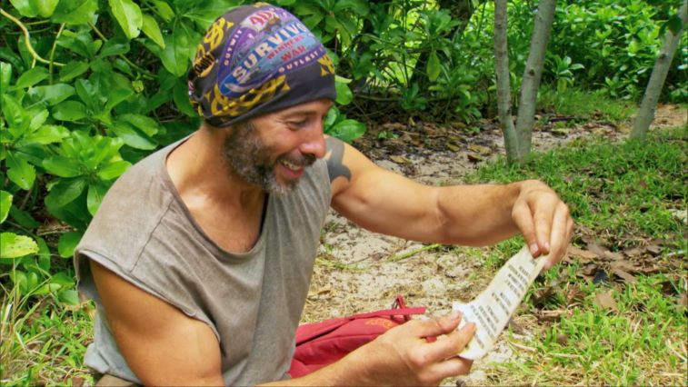 Tony Vlachos on 'Survivor: Winners at War' with his extortion note