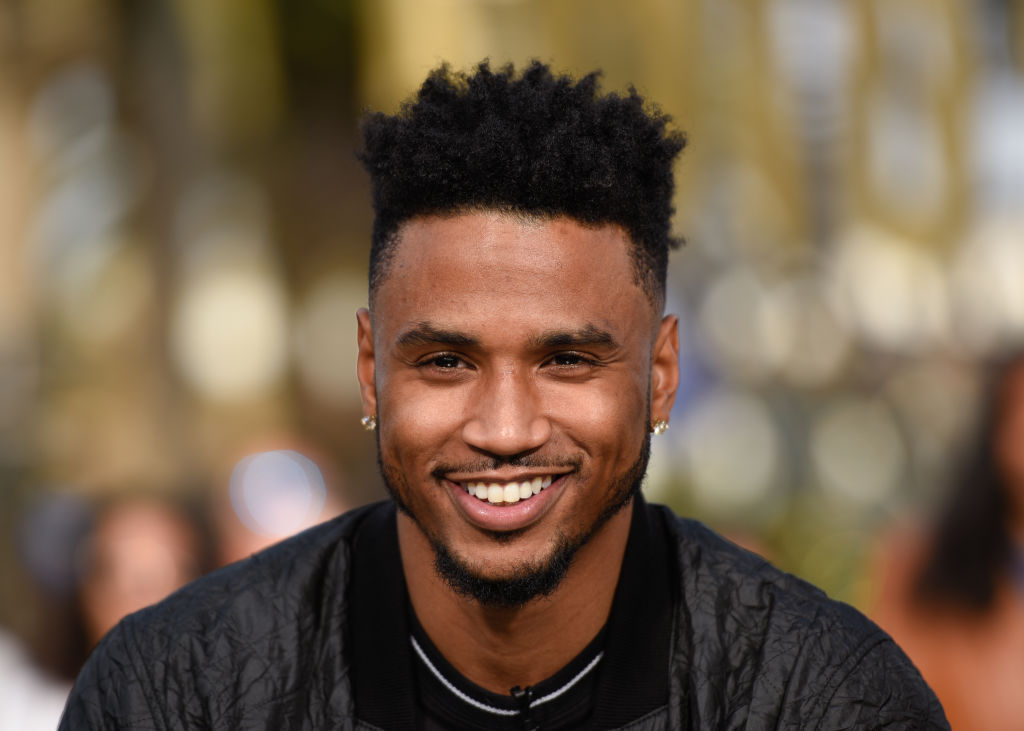 "Trey Songz visits ""Extra"" at Universal Studios Hollywood on November 27, 2018 in Universal City, California."