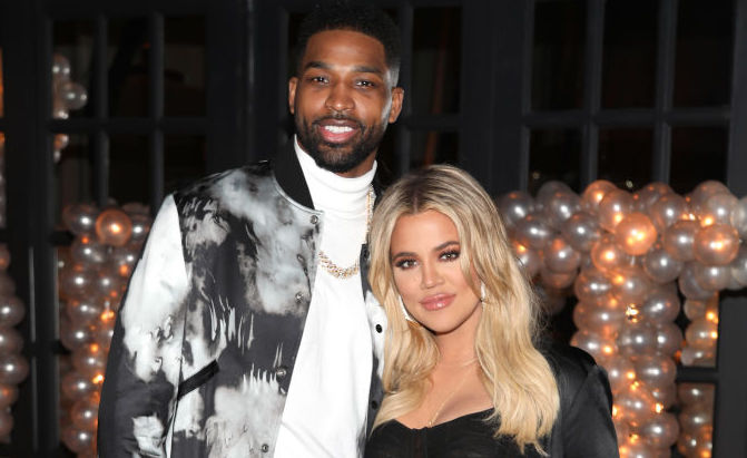 Tristan Thompson and Khloé Kardashian at an event in 2018
