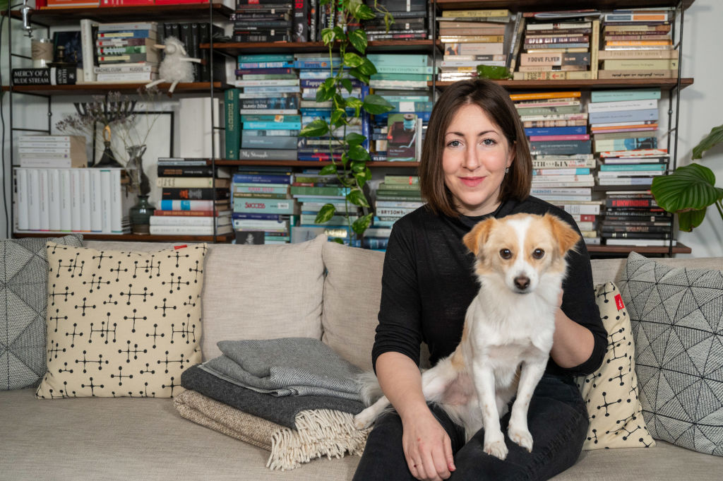 Unorthodox writer Deborah Feldman with her dog